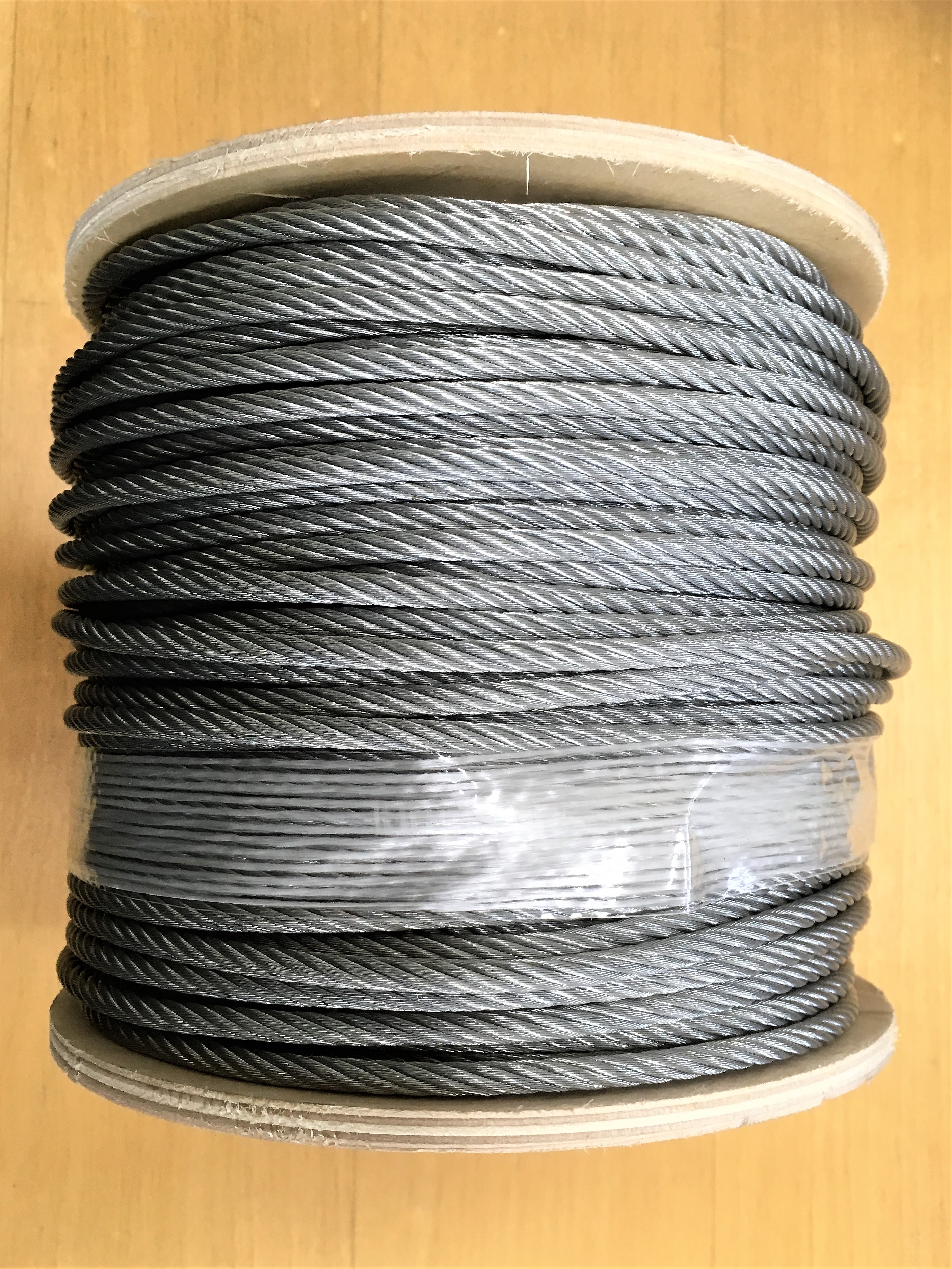 BP502 : Galvanized steel cable / wire rope (7x19) : 5mm Dia (per ...
